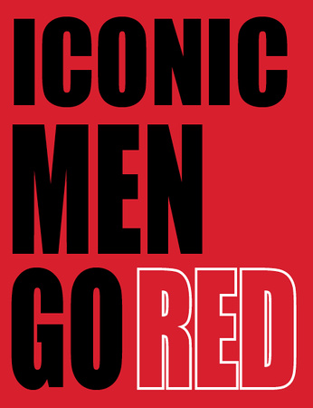 Iconic men go red book cover Sandy Adams Photography Go Red For Women Houston Bay Area Texas 001